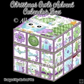 Christmas Owls Advent Calendar Box