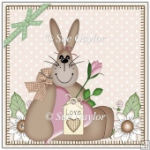 Country Folk Art Easter Bunny