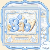 Bubble Baby Boy 7.5 Decoupage Kit