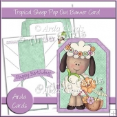 Tropical Sheep Pop Out Banner Card