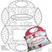 Strawberry Delight Digitally Stamped Purse Pillow Box