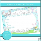 Bonnets & Bowties A5 Invitations