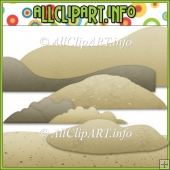 Sand Elements Commercial Use Clip Art
