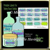 Travel Toiletry Bottle Labels