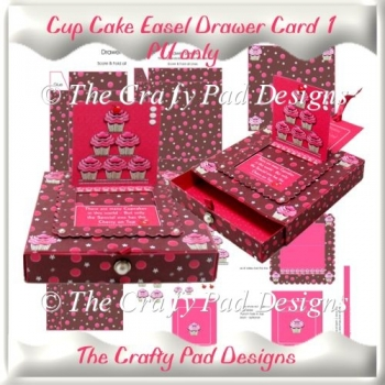 Cup Cake Sliding Easel Drawer Card 1