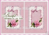 All Occasion Roses and Lace Card Insert