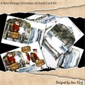 A Very Vintage Christmas 3d Easel Card Kit