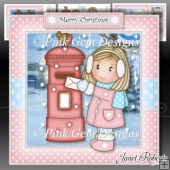 Ellie with Postbox Mini Kit. Christmas Daughter/Granddaughter