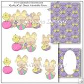 Easter Bunny Gang Decoupage Set
