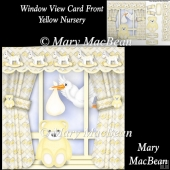Window View Card Front - Yellow Nursery