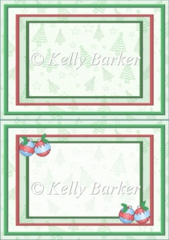 Baubles and Holly Christmas A5 Insert