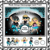 Rock Group Decoupage Card Front