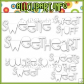 Sweet Stuff Fairy Hippos Commercial Use Digital Stamp Word Art