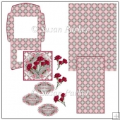 Red Border Carnation Easel Card