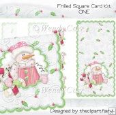 Frilled Square Card Kit 1(Retiring in August)