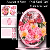 Bouquet of Roses - Oval Easel Card