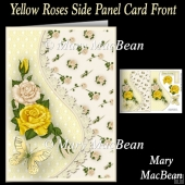 Yellow Roses Side Panel Card Front