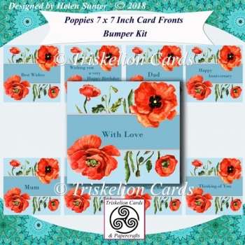Poppies Bumper Kit 7 x 7 Inch Card Fronts