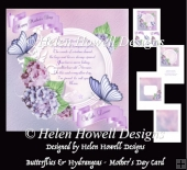 Butterflies & Hydrangeas - Mother's Day Card