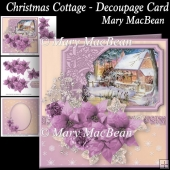 Christmas Cottage Decoupage Card