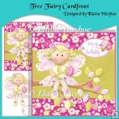 Tree Fairy Cardfront with Decoupage