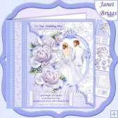 Wedding Day LOVE BROUGHT YOU TOGETHER Blue 8x8 Decoupage Kit