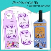 Floral Bottle Gift Tag