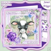 CALF BABY COW 7.5 Decoupage & Insert Kit