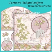 Gardener's Delight Cardfront with Decoupage