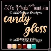 1950 Soda Fountain Colors - Candy Gloss Photoshop Styles
