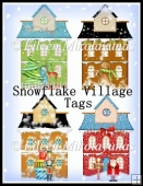 Snowflake Village Diecut Shapes for Tags, Cards, Crafts