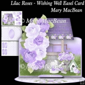 Lilac Roses - Wishing Well Easel Card