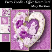 Pretty Poodle - Offset Heart Card