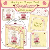Somebunny Loves You! Scalloped Corner Card