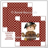Bear Pirate 2 Square Box