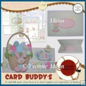 Easter Basket Decoupage No Cut Over The Top Card Kit