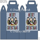 Merry Christmas Penguin Trio Gift Bag