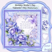 You Are the World Purple Roses Verse 8x8 Kit