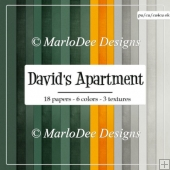 David's Apartment A4 size Card Stock Digital Papers