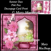 Summer Days Pink Posy Decoupage Card Front