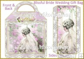 Blissful Bride Large Handled Wedding Gift Bag