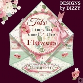 Flowers & Lace Diamond Easel Card