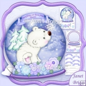 Christmas Snow Globe Flakey Friends Shaped Card Kit
