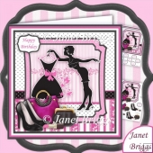 LITTLE BLACK DRESS & ACCESSORIES 8x8 Decoupage Mini Kit