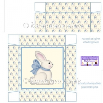 Easter Bunny Blue 5 x 5 Square Box