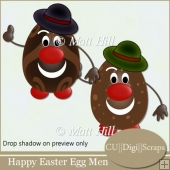 Happy Easter Egg Men
