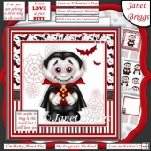 LONG IN THE TOOTH Humorous Dracula 7.5 Decoupage Card Kit