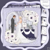 WEDDING TO HAVE & TO HOLD Lavender 7.5 Decoupage Card & Insert