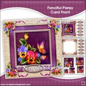Fanciful Pansy Pyramage Card Front Kit
