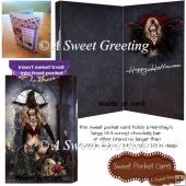 Sexy Witch Halloween Sweet Pocket Card